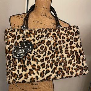 Lux de Ville leopard rockabilly bag furry HOT